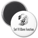Surf A Wave Function Fridge Magnets