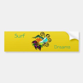 Surf abstract bumper sticker