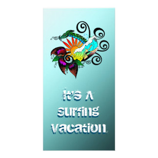 Surf Abstract Card