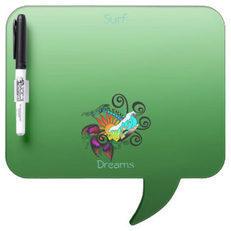 Surf abstract dry erase board