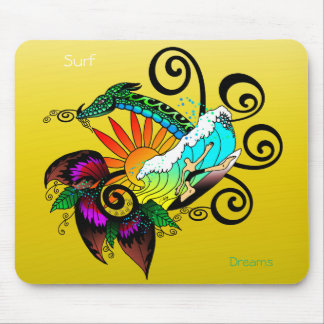 Surf abstract mouse pad
