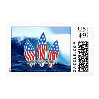 Surf America Wave Postage