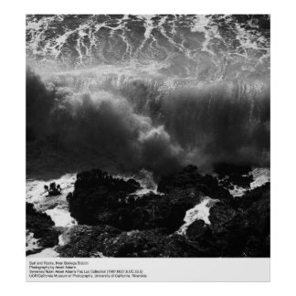 Surf and Rocks, Near Bodega Station by Ansel Adams Poster