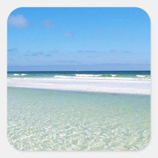 Surf and Sandbar Square Sticker
