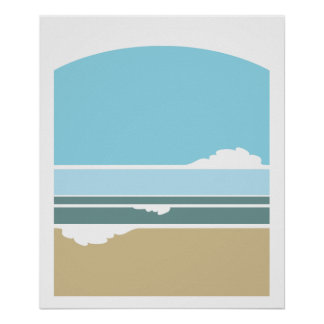 Surf and Sky minimalist poster