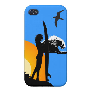 surf and sunset tropical beach phone case cover 2 iPhone 4/4S cases