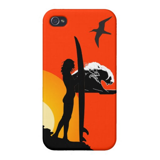 surf and sunset tropical beach phone case cover 3 iPhone 4 cases