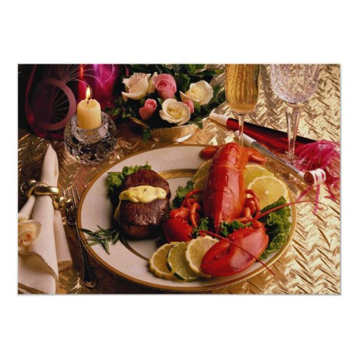 Surf and turf card