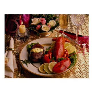 Surf and turf postcard