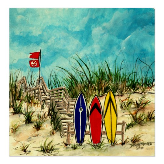 surf art canvas painting print on canvas