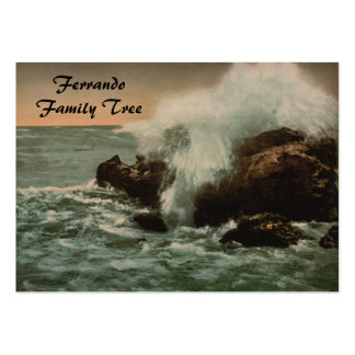 Surf at Ventimiglia, Liguria, Italy Large Business Cards (Pack Of 100)