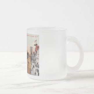 Surf Ave., Coney Island, New York Vintage Frosted Glass Coffee Mug