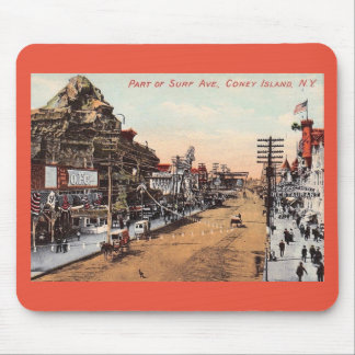 Surf Ave., Coney Island, New York Vintage Mouse Pad
