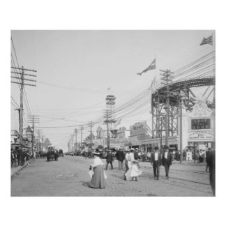 Surf Avenue, Coney Island: 1901 Poster