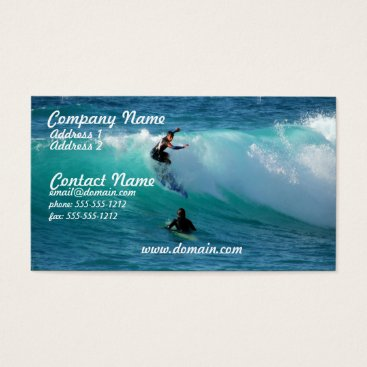 Professional Business Surf Background Business Card