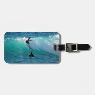 Surf Background Luggage Tag