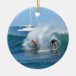 Surf Background Ornament