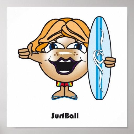 Surf Ball Print