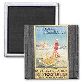 Surf Bathing In South Africa , Vintage Fridge Magnets
