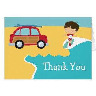 Surf Beach Birthday Party Thank You Card