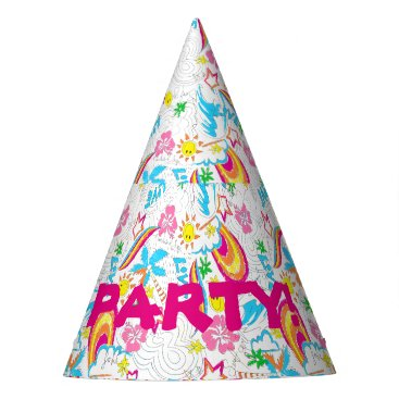 Surf beach love party hat