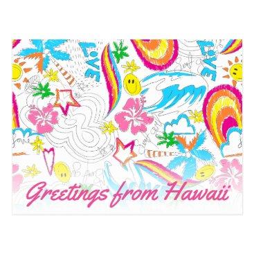 Beach Themed Surf beach love postcard