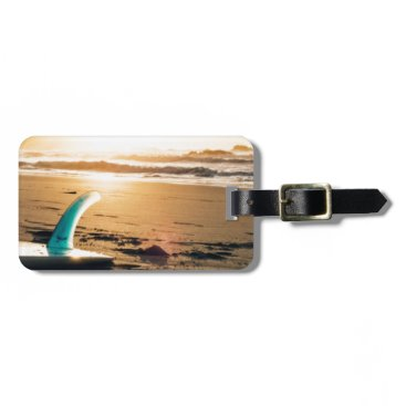 Surf board beach bag tag