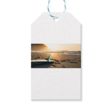 Beach Themed Surf board beach gift tags