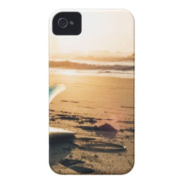 Surf board beach iPhone 4 cover