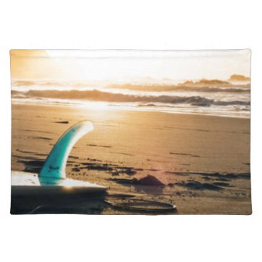 Beach Themed Surf board beach placemat