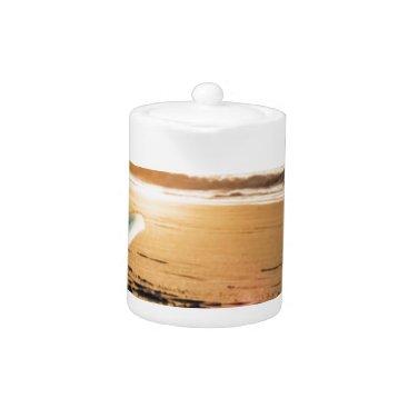 Beach Themed Surf board beach teapot