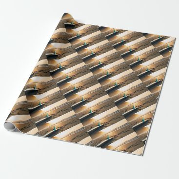 Beach Themed Surf board beach wrapping paper