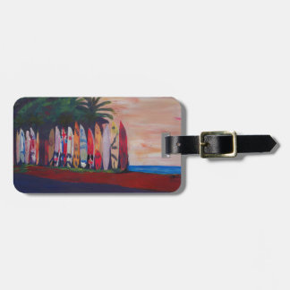 Surf Board Fence Wall at the Seaside Luggage Tag