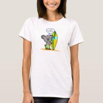 Surf Board Koala Bear Shirt