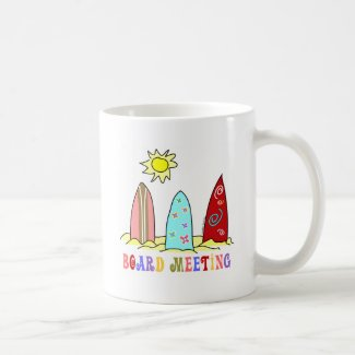 Surf Board Meeting Coffee Mug