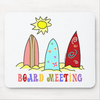 Surf Board Meeting Mouse Pad