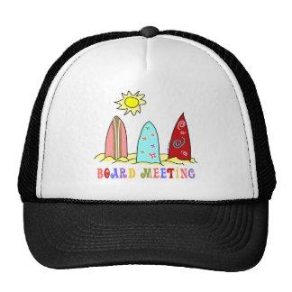 Surf Board Meeting Trucker Hats