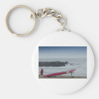 Surf Board Ocean Sea Beach HDR Pictures Photos New Basic Round Button Keychain