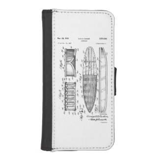 SURF BOARD PATENT - CIRCA 1950 - WALLET PHONE CASE FOR iPhone SE/5/5s