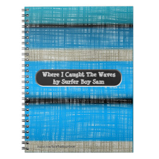 Surf Board Stripes Journal (Personalized)