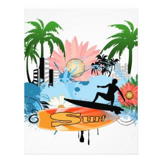 Surf boarder letterhead