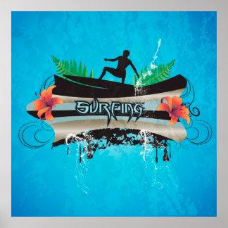 Surf boarder poster