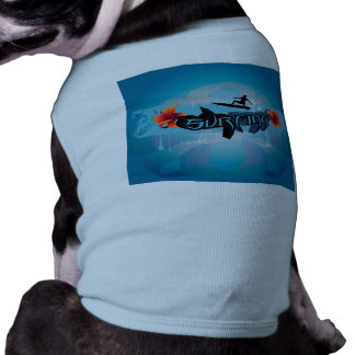 Surf boarder with water splash pet shirt