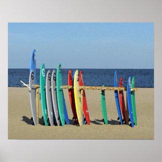 Surf boards Asbury Park NJ Beach Posters