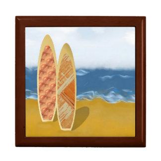 Surf Boards On The Beach Keepsake Box