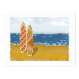 Surf Boards On The Beach Postcard