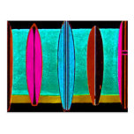 SURF BOARDS POST CARD