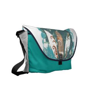 surf boards rickshaw bag_aqua blue messenger bag