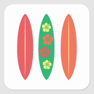 Surf Boards Square Stickers