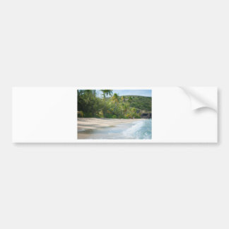 Surf breaking on a sandy beach bumper sticker